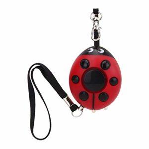 Personal Alarm Attack Alarm 120dB Portable Personal Security Alarm Beetle Ladybug Alarm with Key Chain